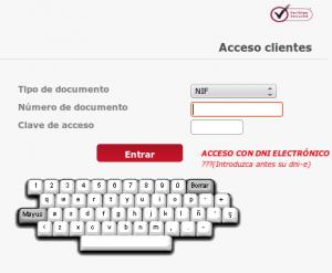 Ejemplo de teclado virtual