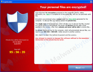 CryptoLocker Fuente imagen: Foro Spyware