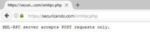 XMLRPC habilitado